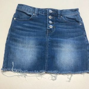 RSQ Distressed Button Fly Denim Skirt-girl's med